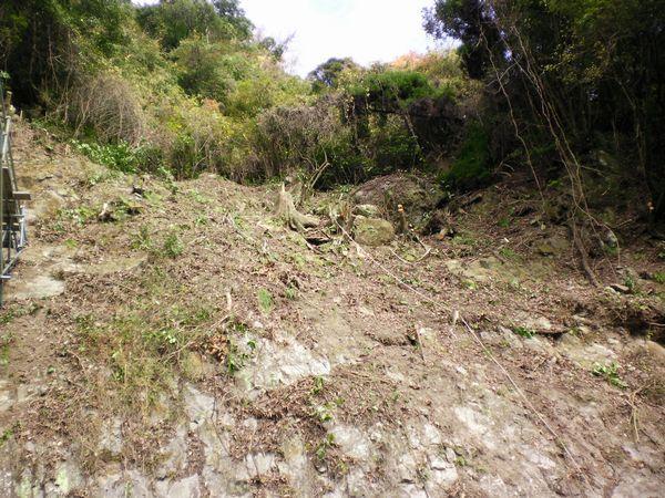 菊池管内水源流域広域保全事業火山地域第3号工事 着工前